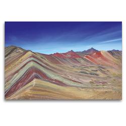 Premium Textil-Leinwand 120 x 80 cm Quer-Format Rainbow Mountain, Vinicunca, Peru | Wandbild, HD-Bild auf Keilrahmen, Fertigbild auf hochwertigem Vlies, Leinwanddruck von © viaje.ch
