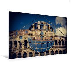 Premium Textil-Leinwand 120 x 80 cm Quer-Format Roma Polyscape – Geometrie trifft Fotografie | Wandbild, HD-Bild auf Keilrahmen, Fertigbild auf hochwertigem Vlies, Leinwanddruck von Oliver Pinkoss von Pinkoss,  Oliver