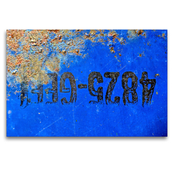 Premium Textil-Leinwand 120 x 80 cm Quer-Format Rostiges Ölfass | Wandbild, HD-Bild auf Keilrahmen, Fertigbild auf hochwertigem Vlies, Leinwanddruck von Anne Madalinski