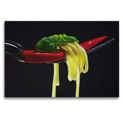Premium Textil-Leinwand 120 x 80 cm Quer-Format Rote Chili | Wandbild, HD-Bild auf Keilrahmen, Fertigbild auf hochwertigem Vlies, Leinwanddruck von Tanja Riedel