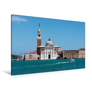 Premium Textil-Leinwand 120 x 80 cm Quer-Format S.Giorgio Maggiore   Wandbild, HD-Bild auf Keilrahmen, Fertigbild auf hochwertigem Vlies, Leinwanddruck von Thomas Jäger