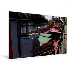 Premium Textil-Leinwand 120 x 80 cm Quer-Format Schiffshebewerk   Wandbild, HD-Bild auf Keilrahmen, Fertigbild auf hochwertigem Vlies, Leinwanddruck von Uwe Bernds von Bernds,  Uwe