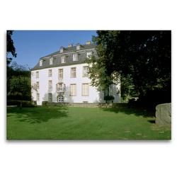 Premium Textil-Leinwand 120 x 80 cm Quer-Format Schloss Hardenberg | Wandbild, HD-Bild auf Keilrahmen, Fertigbild auf hochwertigem Vlies, Leinwanddruck von Udo Haafke