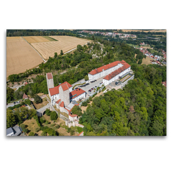 Premium Textil-Leinwand 120 x 80 cm Quer-Format Schloss Hirschberg | Wandbild, HD-Bild auf Keilrahmen, Fertigbild auf hochwertigem Vlies, Leinwanddruck von Ralph Portenhauser