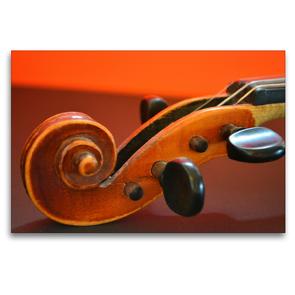 Premium Textil-Leinwand 120 x 80 cm Quer-Format Schnecke einer Geige | Wandbild, HD-Bild auf Keilrahmen, Fertigbild auf hochwertigem Vlies, Leinwanddruck von Renate Bleicher