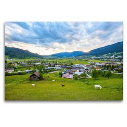 Premium Textil-Leinwand 120 x 80 cm Quer-Format Schöne Grüße aus Radstadt | Wandbild, HD-Bild auf Keilrahmen, Fertigbild auf hochwertigem Vlies, Leinwanddruck von Christa Kramer