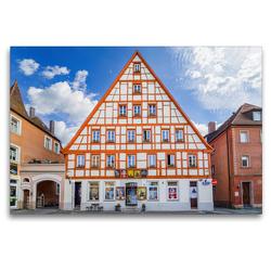 Premium Textil-Leinwand 120 x 80 cm Quer-Format Schwabach Impressionen   Wandbild, HD-Bild auf Keilrahmen, Fertigbild auf hochwertigem Vlies, Leinwanddruck von Dirk Meutzner