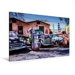 Premium Textil-Leinwand 120 x 80 cm Quer-Format Seligman, Route 66 | Wandbild, HD-Bild auf Keilrahmen, Fertigbild auf hochwertigem Vlies, Leinwanddruck von Martin Knaack von Knaack,  Martin