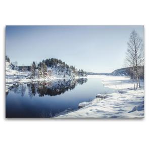 Premium Textil-Leinwand 120 x 80 cm Quer-Format Skjersæ | Wandbild, HD-Bild auf Keilrahmen, Fertigbild auf hochwertigem Vlies, Leinwanddruck von Philipp Blaschke