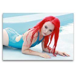 Premium Textil-Leinwand 120 x 80 cm Quer-Format Sommermädchen – Sexy Summer Girls | Wandbild, HD-Bild auf Keilrahmen, Fertigbild auf hochwertigem Vlies, Leinwanddruck von Andy Bulls