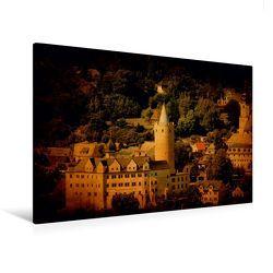 Premium Textil-Leinwand 120 x 80 cm Quer-Format Stadtansicht Zschopau | Wandbild, HD-Bild auf Keilrahmen, Fertigbild auf hochwertigem Vlies, Leinwanddruck von Heike Hultsch