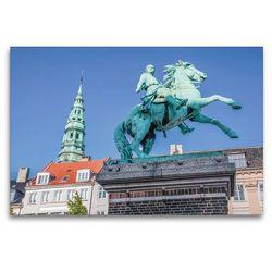 Premium Textil-Leinwand 120 x 80 cm Quer-Format Statue von Absalon auf dem Hojbro Platz   Wandbild, HD-Bild auf Keilrahmen, Fertigbild auf hochwertigem Vlies, Leinwanddruck von Christian Müringer