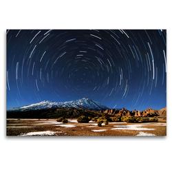 Premium Textil-Leinwand 120 x 80 cm Quer-Format Sterne überm Teide   Wandbild, HD-Bild auf Keilrahmen, Fertigbild auf hochwertigem Vlies, Leinwanddruck von Raico Rosenberg