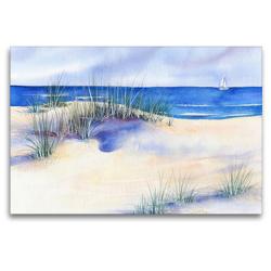Premium Textil-Leinwand 120 x 80 cm Quer-Format Strand | Wandbild, HD-Bild auf Keilrahmen, Fertigbild auf hochwertigem Vlies, Leinwanddruck von Jitka Krause