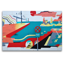 Premium Textil-Leinwand 120 x 80 cm Quer-Format Taxistand | Wandbild, HD-Bild auf Keilrahmen, Fertigbild auf hochwertigem Vlies, Leinwanddruck von (c) 2019 by Atlantismedia