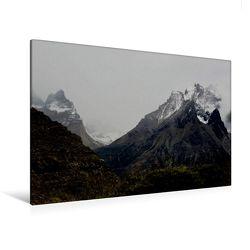 Premium Textil-Leinwand 120 x 80 cm Quer-Format Torres del Paine, Chile | Wandbild, HD-Bild auf Keilrahmen, Fertigbild auf hochwertigem Vlies, Leinwanddruck von Ute Köhler von Köhler,  Ute