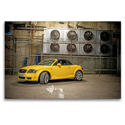 Premium Textil-Leinwand 120 x 80 cm Quer-Format TT 8N Roadster | Wandbild, HD-Bild auf Keilrahmen, Fertigbild auf hochwertigem Vlies, Leinwanddruck von SchnelleWelten