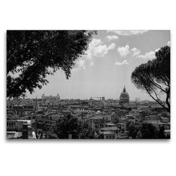 Premium Textil-Leinwand 120 x 80 cm Quer-Format Über den Dächern von Rom   Wandbild, HD-Bild auf Keilrahmen, Fertigbild auf hochwertigem Vlies, Leinwanddruck von kattobello