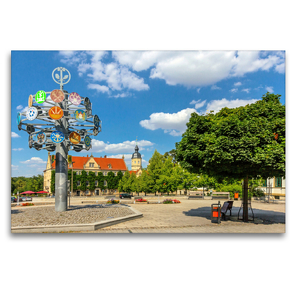 Premium Textil-Leinwand 120 x 80 cm Quer-Format Unterwegs in Riesa | Wandbild, HD-Bild auf Keilrahmen, Fertigbild auf hochwertigem Vlies, Leinwanddruck von Birgit Seifert