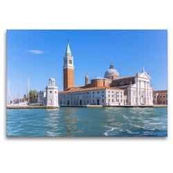 Premium Textil-Leinwand 120 x 80 cm Quer-Format Venedig, Basilica San Giorgio Maggiore | Wandbild, HD-Bild auf Keilrahmen, Fertigbild auf hochwertigem Vlies, Leinwanddruck von Hanna Wagner