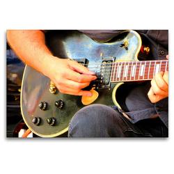 Premium Textil-Leinwand 120 x 80 cm Quer-Format Vintage Les Paul Gitarre | Wandbild, HD-Bild auf Keilrahmen, Fertigbild auf hochwertigem Vlies, Leinwanddruck von Renate Bleicher
