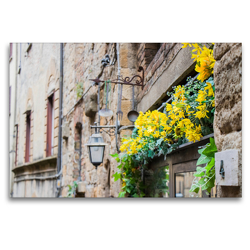 Premium Textil-Leinwand 120 x 80 cm Quer-Format Volterra | Wandbild, HD-Bild auf Keilrahmen, Fertigbild auf hochwertigem Vlies, Leinwanddruck von Jens L. Heinrich