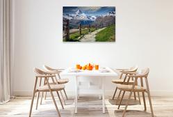 Premium Textil-Leinwand 120 x 80 cm Quer-Format Wandern, durch gigantische Natur   Wandbild, HD-Bild auf Keilrahmen, Fertigbild auf hochwertigem Vlies, Leinwanddruck von Peter Roder