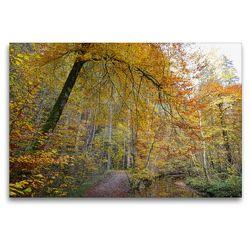 Premium Textil-Leinwand 120 x 80 cm Quer-Format Wanderweg durch die Maisinger Schlucht | Wandbild, HD-Bild auf Keilrahmen, Fertigbild auf hochwertigem Vlies, Leinwanddruck von Anja Frost