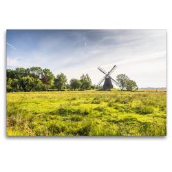 Premium Textil-Leinwand 120 x 80 cm Quer-Format Wasserschöpfmühle Wynhamsterkolk | Wandbild, HD-Bild auf Keilrahmen, Fertigbild auf hochwertigem Vlies, Leinwanddruck von Conny Pokorny