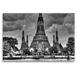 Premium Textil-Leinwand 120 x 80 cm Quer-Format Wat Arun | Wandbild, HD-Bild auf Keilrahmen, Fertigbild auf hochwertigem Vlies, Leinwanddruck von Ralf Wittstock