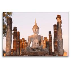 Premium Textil-Leinwand 120 x 80 cm Quer-Format Wat Mahathat, Sukhothai Historical Park, Thailand | Wandbild, HD-Bild auf Keilrahmen, Fertigbild auf hochwertigem Vlies, Leinwanddruck von Christian Heeb