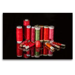 Premium Textil-Leinwand 120 x 80 cm Quer-Format Weihnachtsfäden. | Wandbild, HD-Bild auf Keilrahmen, Fertigbild auf hochwertigem Vlies, Leinwanddruck von Britta Kromand
