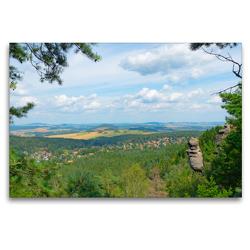 Premium Textil-Leinwand 120 x 80 cm Quer-Format Wie der Fels in der Landschaft | Wandbild, HD-Bild auf Keilrahmen, Fertigbild auf hochwertigem Vlies, Leinwanddruck von Fotografin Renate