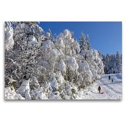 Premium Textil-Leinwand 120 x 80 cm Quer-Format Winterlandschaft, Kahler Asten, Sauerland | Wandbild, HD-Bild auf Keilrahmen, Fertigbild auf hochwertigem Vlies, Leinwanddruck von N N