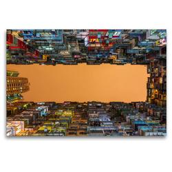 Premium Textil-Leinwand 120 x 80 cm Quer-Format Wohnkomplexe in Causeway Bay | Wandbild, HD-Bild auf Keilrahmen, Fertigbild auf hochwertigem Vlies, Leinwanddruck von N N
