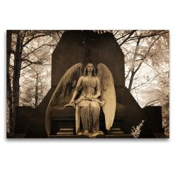 Premium Textil-Leinwand 120 x 80 cm Quer-Format your guardian angel – Dein Schutzengel für jeden Tag | Wandbild, HD-Bild auf Keilrahmen, Fertigbild auf hochwertigem Vlies, Leinwanddruck von Oliver Buchmann