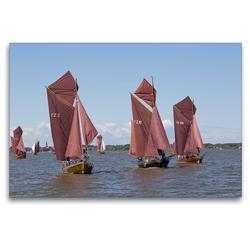Premium Textil-Leinwand 120 x 80 cm Quer-Format Zeesenbootregatta   Wandbild, HD-Bild auf Keilrahmen, Fertigbild auf hochwertigem Vlies, Leinwanddruck von N N