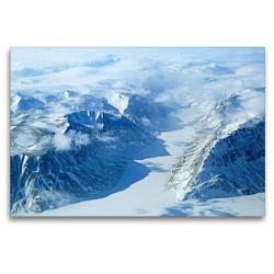 Premium Textil-Leinwand 120 x 80 cm Quer-Format Zugefrorener Fjord in Grönland   Wandbild, HD-Bild auf Keilrahmen, Fertigbild auf hochwertigem Vlies, Leinwanddruck von Rainer Spoddig