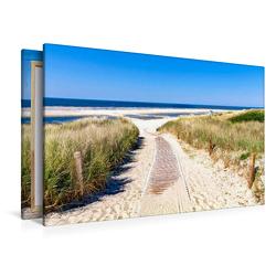 Premium Textil-Leinwand 1200 x 800 cm Quer-Format Langeoog – Strandweg | Wandbild, HD-Bild auf Keilrahmen, Fertigbild auf hochwertigem Vlies, Leinwanddruck von Andrea Dreegmeyer