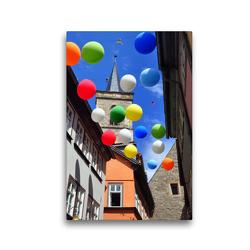Premium Textil-Leinwand 30 x 45 cm Hoch-Format Ältester Profanbau Erfurts – Krämerbrücke | Wandbild, HD-Bild auf Keilrahmen, Fertigbild auf hochwertigem Vlies, Leinwanddruck von Pia Thauwald