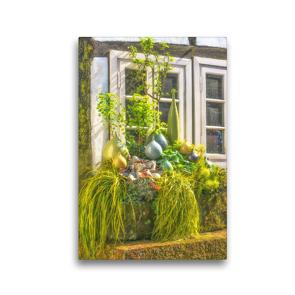 Premium Textil-Leinwand 30 x 45 cm Hoch-Format Authentische Hausfassade eines typischen Fachwerkhauses | Wandbild, HD-Bild auf Keilrahmen, Fertigbild auf hochwertigem Vlies, Leinwanddruck von Bettina Hackstein