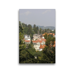 Premium Textil-Leinwand 30 x 45 cm Hoch-Format Blick auf Bad Harzburg | Wandbild, HD-Bild auf Keilrahmen, Fertigbild auf hochwertigem Vlies, Leinwanddruck von Antje Lindert-Rottke