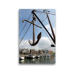 Premium Textil-Leinwand 30 x 45 cm Hoch-Format Bootsanker im Hafen | Wandbild, HD-Bild auf Keilrahmen, Fertigbild auf hochwertigem Vlies, Leinwanddruck von Susanne Herppich