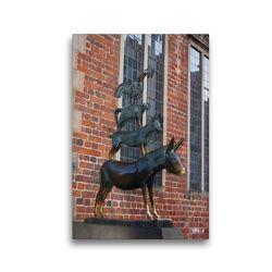 Premium Textil-Leinwand 30 x 45 cm Hoch-Format Bremer Stadtmusikanten | Wandbild, HD-Bild auf Keilrahmen, Fertigbild auf hochwertigem Vlies, Leinwanddruck von kattobello