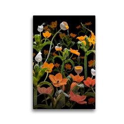 Premium Textil-Leinwand 30 x 45 cm Hoch-Format Caltha palustris | Wandbild, HD-Bild auf Keilrahmen, Fertigbild auf hochwertigem Vlies, Leinwanddruck von Olaf Bruhn