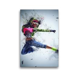 Premium Textil-Leinwand 30 x 45 cm Hoch-Format Dancing Queen – Street Dance | Wandbild, HD-Bild auf Keilrahmen, Fertigbild auf hochwertigem Vlies, Leinwanddruck von Renate Bleicher
