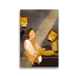 Premium Textil-Leinwand 30 x 45 cm Hoch-Format Daniel in der Löwengrube | Wandbild, HD-Bild auf Keilrahmen, Fertigbild auf hochwertigem Vlies, Leinwanddruck von Stephanie Langowski