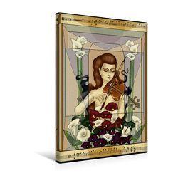 Premium Textil-Leinwand 30 x 45 cm Hoch-Format Das Viola-Konzert | Wandbild, HD-Bild auf Keilrahmen, Fertigbild auf hochwertigem Vlies, Leinwanddruck von Irene Repp von Repp,  Irene