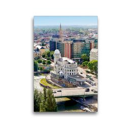 Premium Textil-Leinwand 30 x 45 cm Hoch-Format Die Urania Sternwarte | Wandbild, HD-Bild auf Keilrahmen, Fertigbild auf hochwertigem Vlies, Leinwanddruck von ViennaFrame