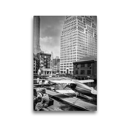 Premium Textil-Leinwand 30 x 45 cm Hoch-Format Downtown Skyport, Pier 11, East River, Manhattan, 1936 | Wandbild, HD-Bild auf Keilrahmen, Fertigbild auf hochwertigem Vlies, Leinwanddruck von Christian Müringer